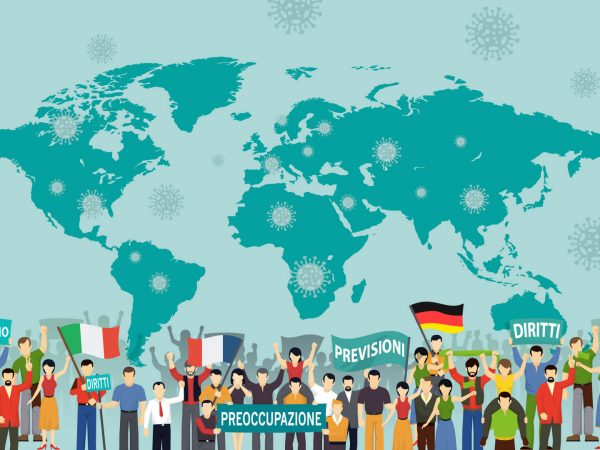 Opinions and Predictions on the Covid-19 Emergency in Italy, UK and Germany