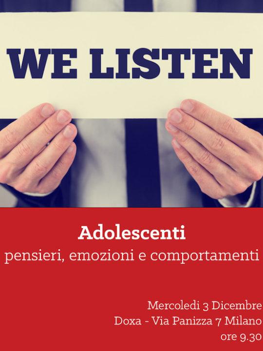 Evento DoxaKids – Teenager: pensieri, emozioni e comportamenti